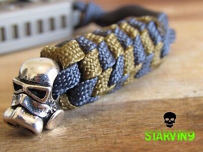 Paracord knife lanyard- Gas mask -fits zero tolerance , CRKT &spyderco