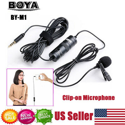 BOYA BY-M1 Omnidirectional Lavalier Microphone for Canon Nikon DSLR Camcorder US