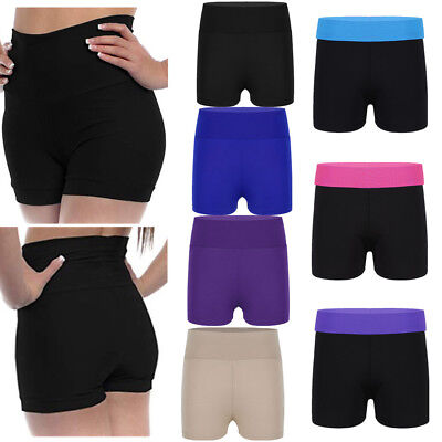 Girls' Gymnastics Leotard Shorts Kids Sport Yoga Gym Dance High Waist Hot Pants