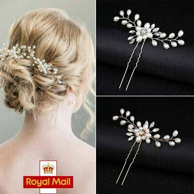 Wedding Bridal Bridesmaid Headdress Pearls Hair Clip Vine Headdress Accessories