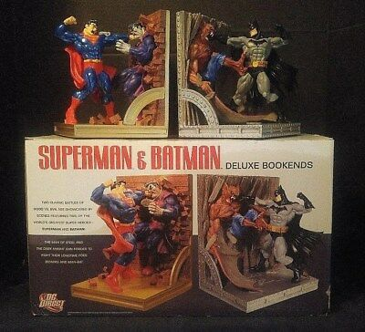 DC DIRECT LIMITED EDITION SUPERMAN BATMAN DELUXE BOOKENDS ED McGUINESS #631/750