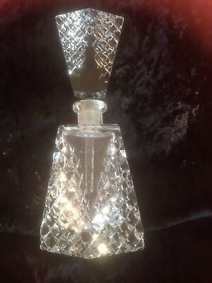Crystal diamond cut vintage perfume bottle