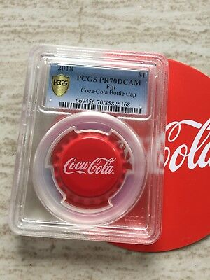 PCGS PR70 2018 Fiji Coca-Cola Bottle Cap $1 6g Silver Proof Coin BOX COA