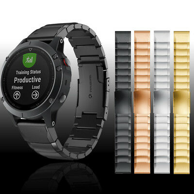 Quick Release Stainless Steel Wristband Strap Band For Garmin Fenix 5 5X 5S Plus