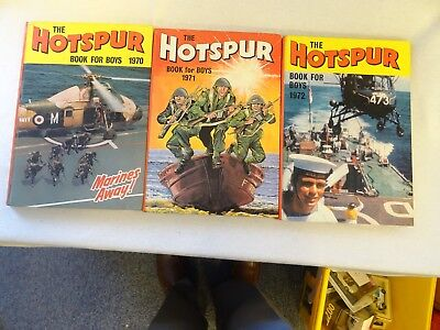 The Hotspur Book for Boys 1970, 1971 and 1972