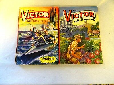The Victor Book for Boys, two books undated and 1966
