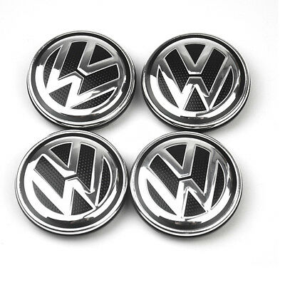 4X For VW VOLKSWAGEN WHEEL RIM CENTER HUB CAPS For BEETLE JETTA CABRIO GOLF 55MM
