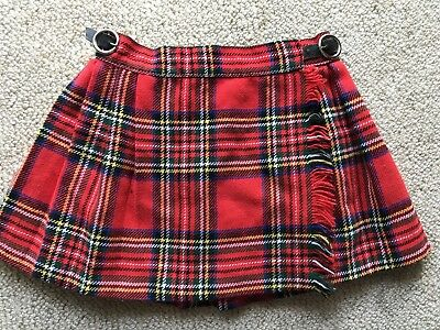 Vintage CLANACRIC Child's Wool Kilt Made In England Suit 3/4