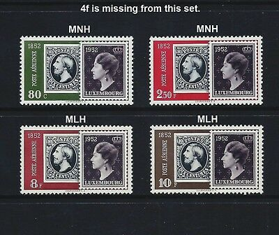 LUXEMBOURG _ 1952 'STAMP CENTENARY' 4 (HCV) _ mnh-mlh ____(544)