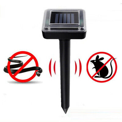 Ultrasonic Solar Power Pest Animal Repeller Repellent Cat Rabbit Dog Mouse