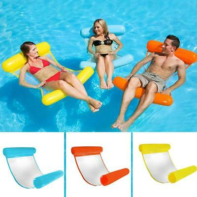 Inflatable Summer Water Hammock Swimming Lounge Roll-Up Floating Lounger Chair