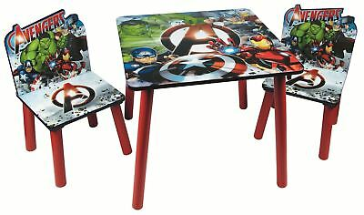 Avengers Children's Wooden Table And Chairs Bedroom / Playroom Furniture Set