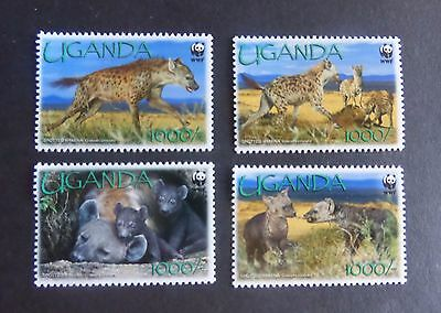Uganda 2008 Endangered Species Hyaena SG2551/4 MNH UM unmounted mint (M)