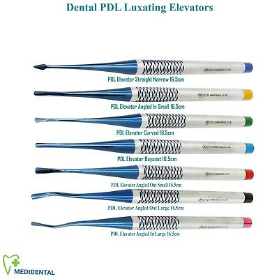7 PDL Luxating Micro Serrated tip Dental Implant Oral Surgery Root Elevators CE