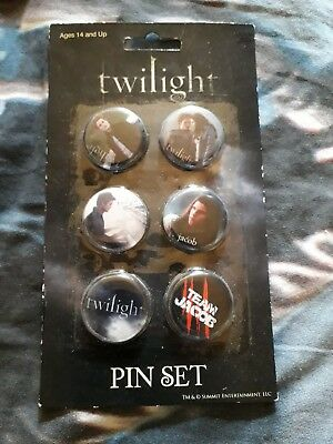 Twilight Tolle Buttons Pin Set