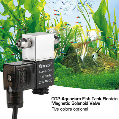 CO2 Magnetic Valve Solenoid Night Time Cut Off For Fish Tank Aquarium System New
