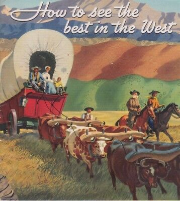 Standard Stations Inc. How To See The Best Of The West 1940 Brochure Color