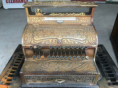 Antique 1904 National Cash Register Model 147 Copper Oxidized - Numbers Match !!