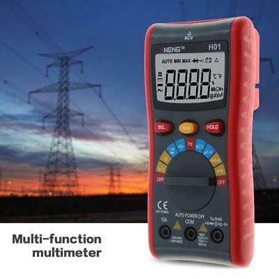 Auto Range Digital Multimeter Backlight AC/DC Ammeter Voltmeter Ohm Diode Tester
