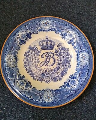 """Delft Blue and White Charger 14"""" Across"""