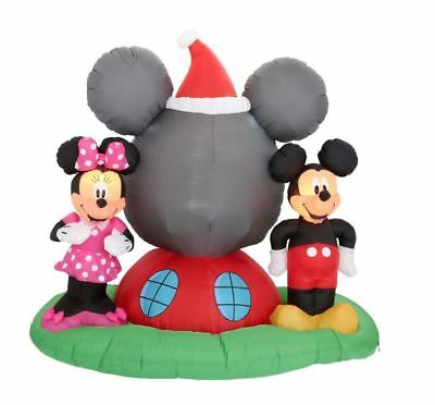 6.5 FT MICKEY & MINNIE MOUSE PANORAMIC PROJECTION Airblown Yard Inflatable