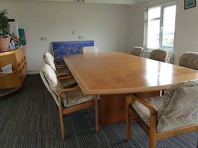 Gordon russell table and 8 chairs