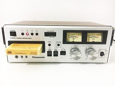 Panasonic Stereo 8 Track Tape Player Recorder Deck  (See Video ) (Just Serviced)