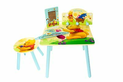 Winnie The Pooh 8 Piece Kids Wooden Table & Chair Set + Bedroom Accessories Pack