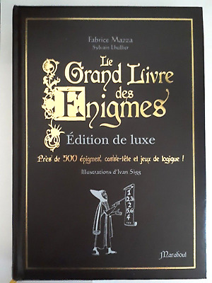 Le Grand Livre des Enigmes - Edition Luxe - Comme Neuf Marabout