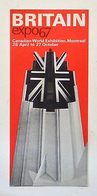 BRITAIN British Pavilion Brochure EXPO 67 MONTREAL Exhibits 1967 World's Fair
