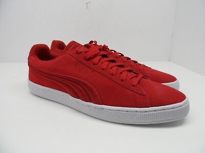 fb9a0c66977 PUMA MEN S SUEDE X Trapstar Casual Shoes Barbados Cherry White Size ...