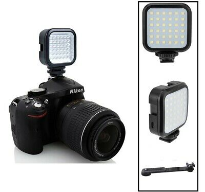 Rechargeable LED Light Kit With Set For Samsung EV-NX1 NX1 NX300M NX3000 NX Mini