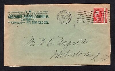 1911 2ct Schermack Type III Washington Stamp on Greenhut Illustrated Cover Front