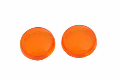 ( 4 ) - 2 Amber / 2 Red Turn Signal Lens Pairs For Harley Davidson - Deuce Style