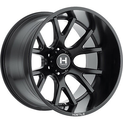 20x9 Black Hostile Rage (H113) Wheels 6x135 +12 Lifted Fits Ford Expedition