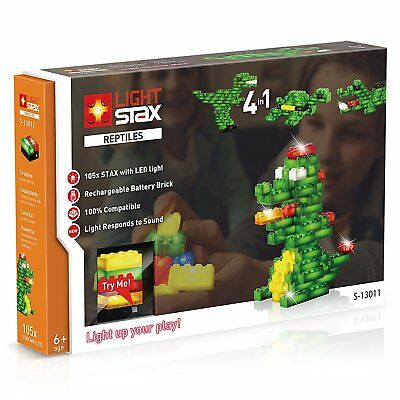 Light Stax Reptiles 4 in 1, vier Leucht-Funktionen, Lego kompatibel, S-13011