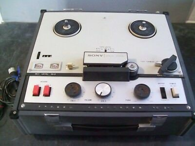 Sony Tapecorder TC-200  Reel to Reel Tape Deck & Speakers Vintage Works