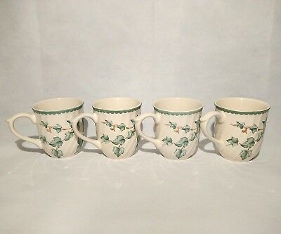 Vintage BHS British Home Stores Country Vine Mugs X 4