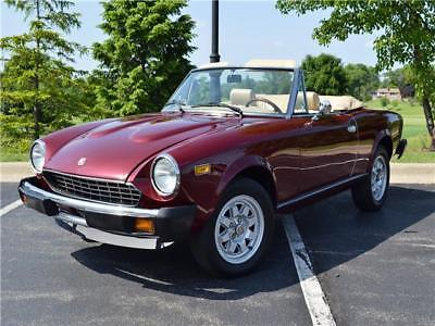 Other 2000 FI Avanzato 1980 Fiat Spider FI Automatic 53K Roadster Salon just completed restoration