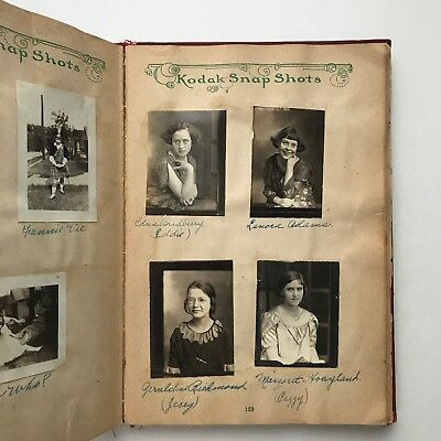 1920s Scrapbook: Vintage Photos Memory Book Journal, Red, Partially Used, Kansas