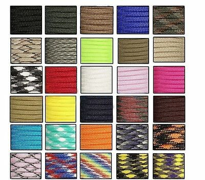30M 550 Paracord Parachute Cord Lanyard Mil Spec Type III 7 Strand Core100FT H9