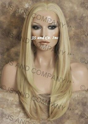 Heat Safe French Lace Front WIG So Realistic Blonde mix WBDA 613-27