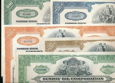 Lot/Set: 5 x Sunray Oil Company, Delaware, New York 1946-1967, DX, Mid-Continent