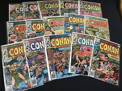 Conan The Barbarian Comc Lot 1977 Red Sonja! John Buscema Art! High Grade Issues