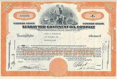 Sunray Mid Continent Oil Company 20.10.1956 USA Energie