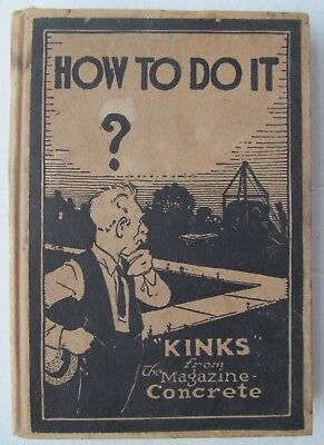 How To Do It (Kinks Concrete Book) (1919 Hardcover)