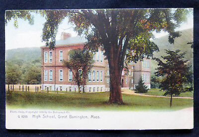 Great Barrington, MA, High School, cpy 1905 by Rotograph Co., undivided back