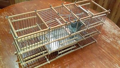 Hand Made By Raul Cuban Style  Finches Wood Trap Bird Cage, Jaula De Trampas