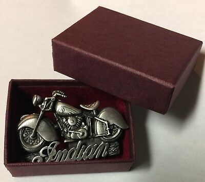 """Indian Motorcycle Pin """"vintage 1999"""" ~ Pinch Clips~ 2"""" Rare !"""