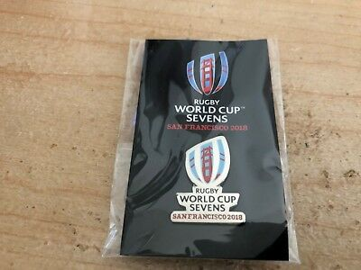 2018 Rugby World Cup Sevens San Francisco Commemorative Pin - Brand New Sealed